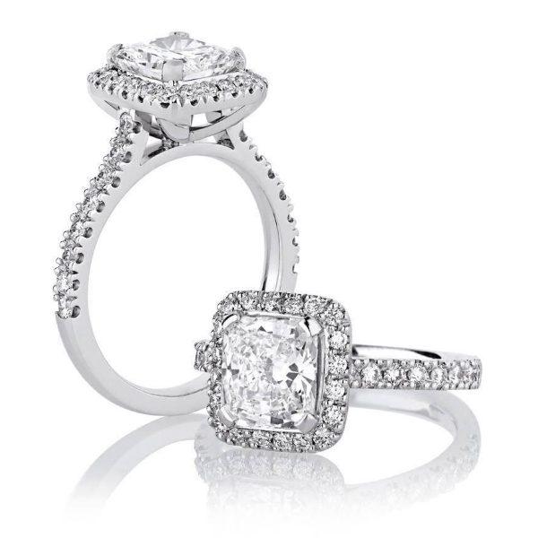 Custom Engagement Ring - Sydney CBD classic cushion halo