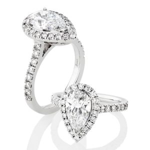 Custom Engagement Ring - Sydney CBD classic pear halo