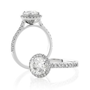 Custom Engagement Ring - Sydney CBD classic round halo