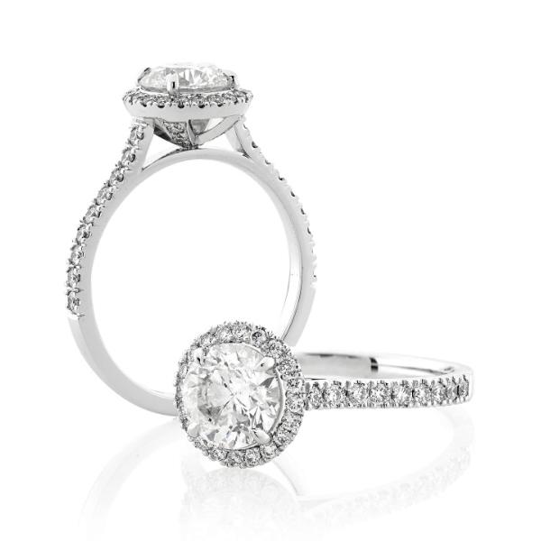 Custom Engagement Ring - Sydney CBD Classic Round Halo
