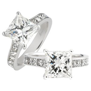 Custom Engagement Ring - Sydney CBD princess with channel