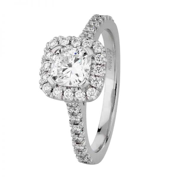 Custom Engagement Ring - Sydney CBD Halo Cushion