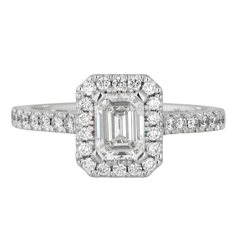 Custom Engagement Ring - Sydney CBD Halo Emerald