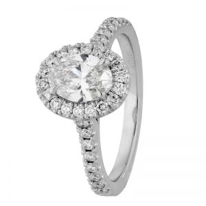 Custom Engagement Ring - Sydney CBD Halo Oval