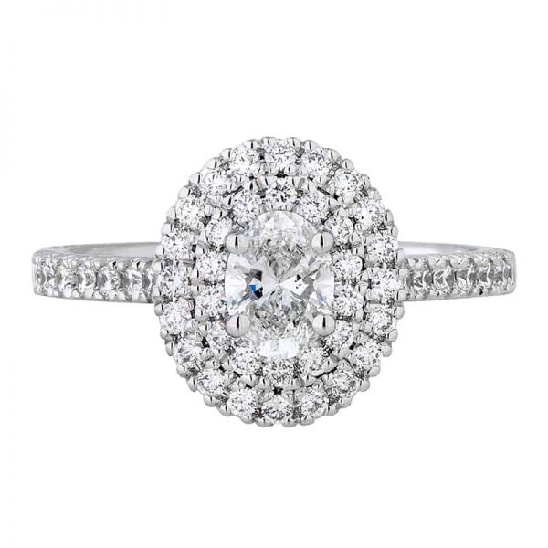 Custom Engagement Ring - Sydney CBD Halo Oval Double