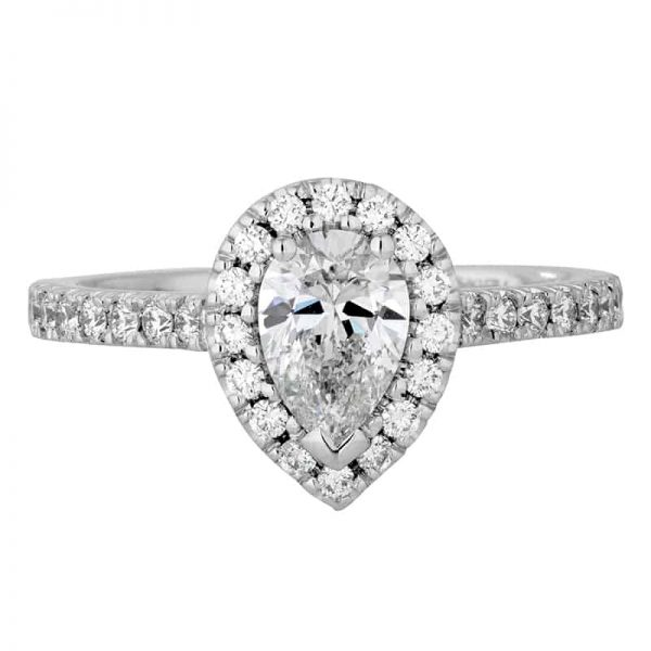 Custom Engagement Ring - Sydney CBD Halo Pear