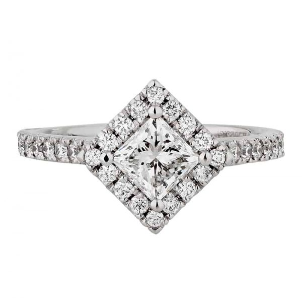 Custom Engagement Ring - Sydney CBD Halo Princess