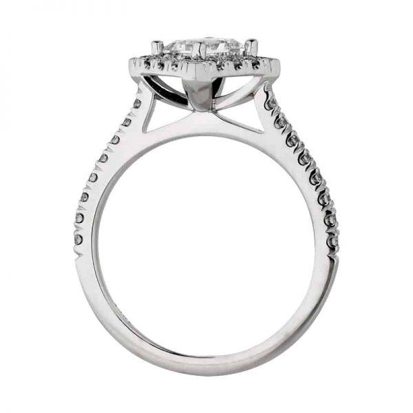 Custom Engagement Ring - Sydney CBD Halo Princess