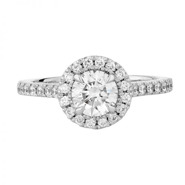 Custom Engagement Ring - Sydney CBD Halo Round