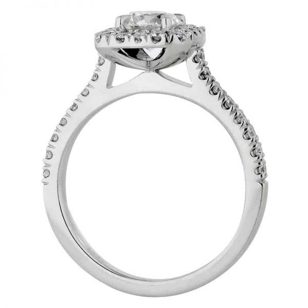 Custom Engagement Ring - Sydney CBD Halo Round Cushion